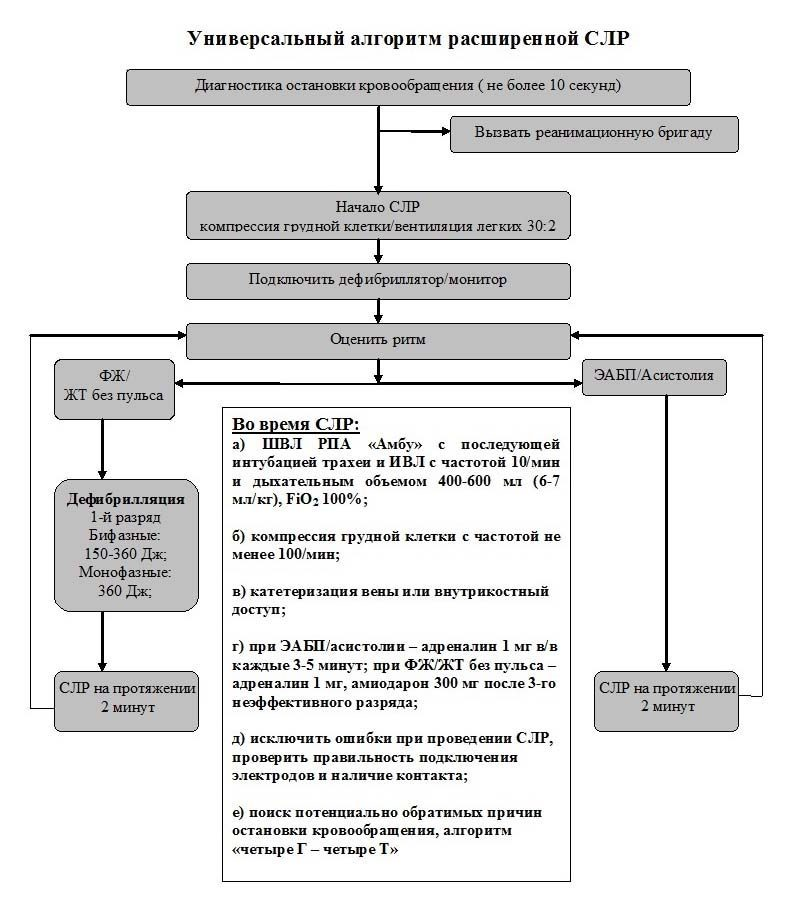 универсальный алгоритм расширенной СЛР