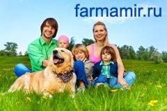 счастливая семья домашнее животное