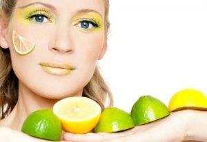 уход за лицом с помощью лимона