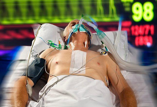 Отсоединение от вентилятора (аппарат искусственной вентиляции легких)
