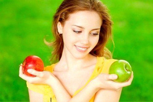 Красное или зеленое яблоко?