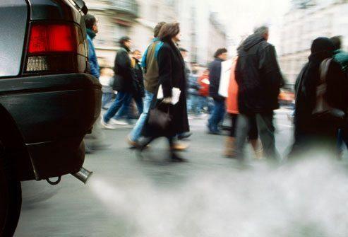 выхлопные газы концирогены