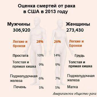 статистика смертей от рака в сша