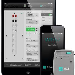 Система Invisible Trial System компании St. Jude Medical использует iPad и iPod для управления обезболивающего нейростимулятора