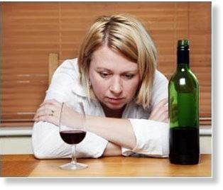 алкогольный стресс у девушки