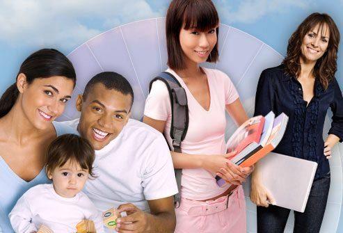 коллаж фотография молодые люди контрацепция врач деловая девушка