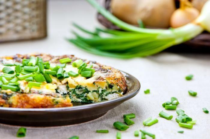 блюда с зеленым луком