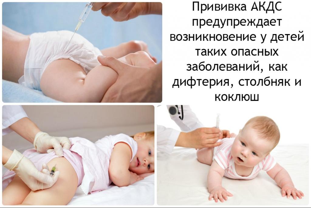 Прививка АКДс значение