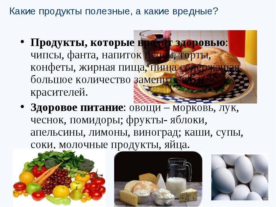 Полезно вредно продукты