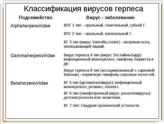 Классификация вируса