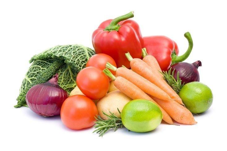 Очищение кишечника свежими овощами и фруктами