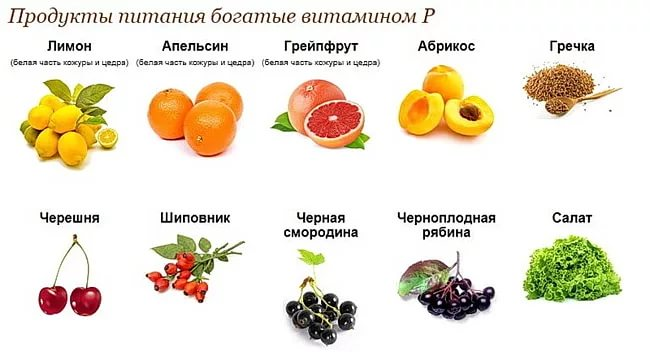 продукты витамин P