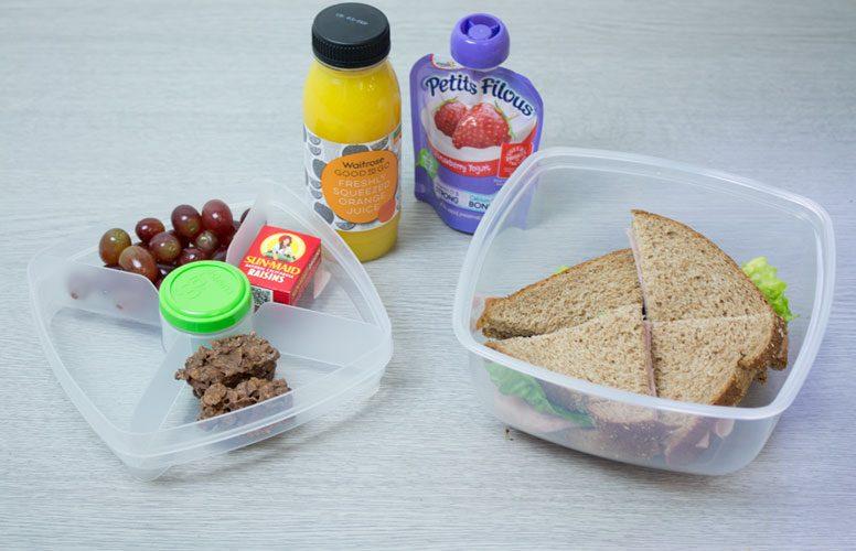 На рисунке изображен типический нежирный обед школьника, который содержит около 170 г углеводов.
