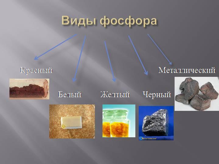виды фосфора
