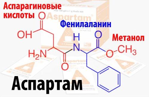 структурная формула аспартама