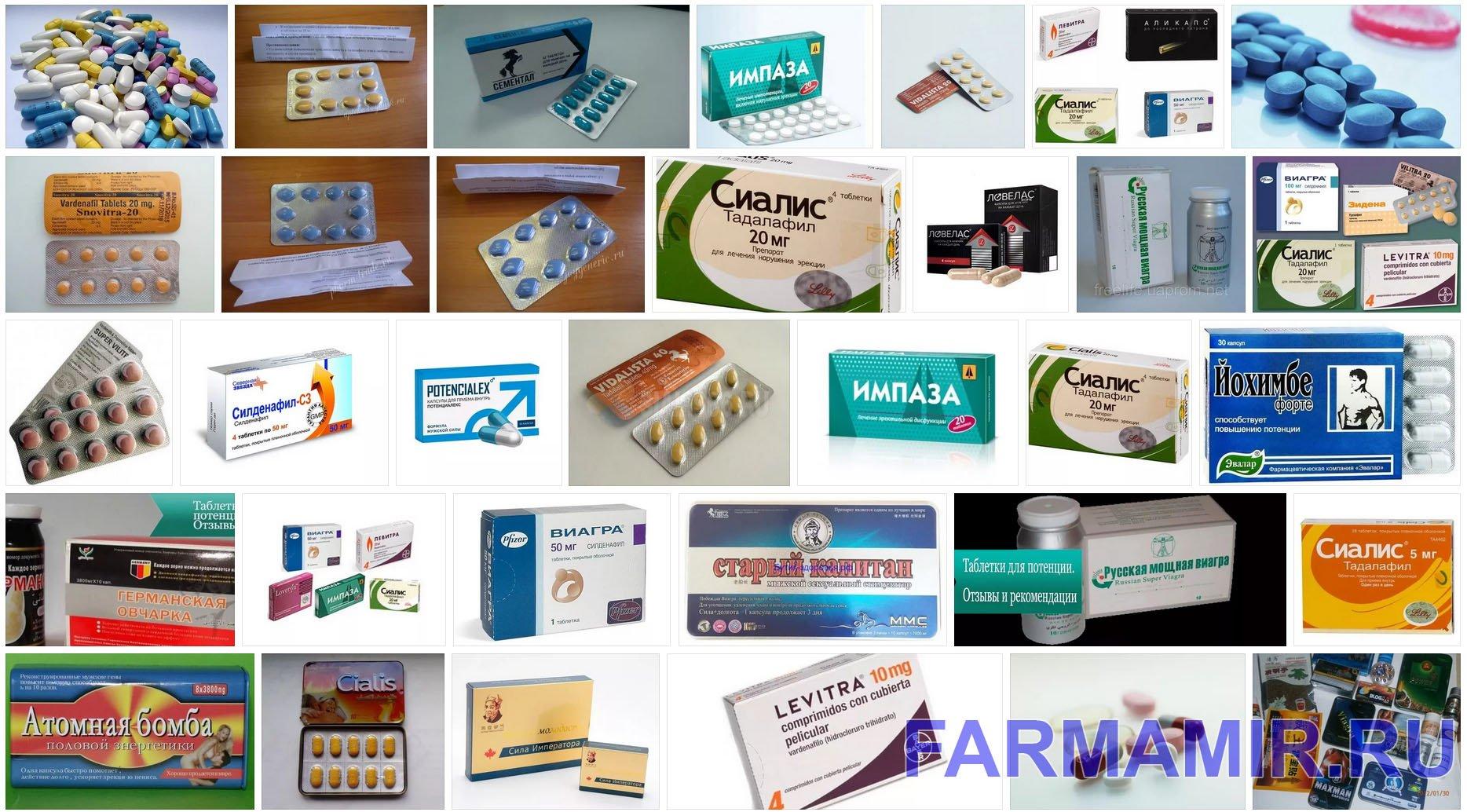 Лекарства от импотенции коллаж