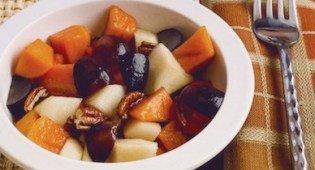 1. Фруктовый салат с хурмой