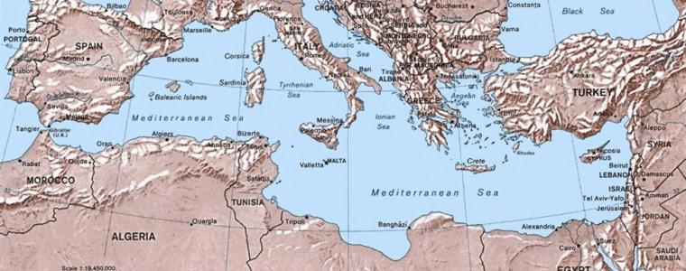 карта средиземноморья