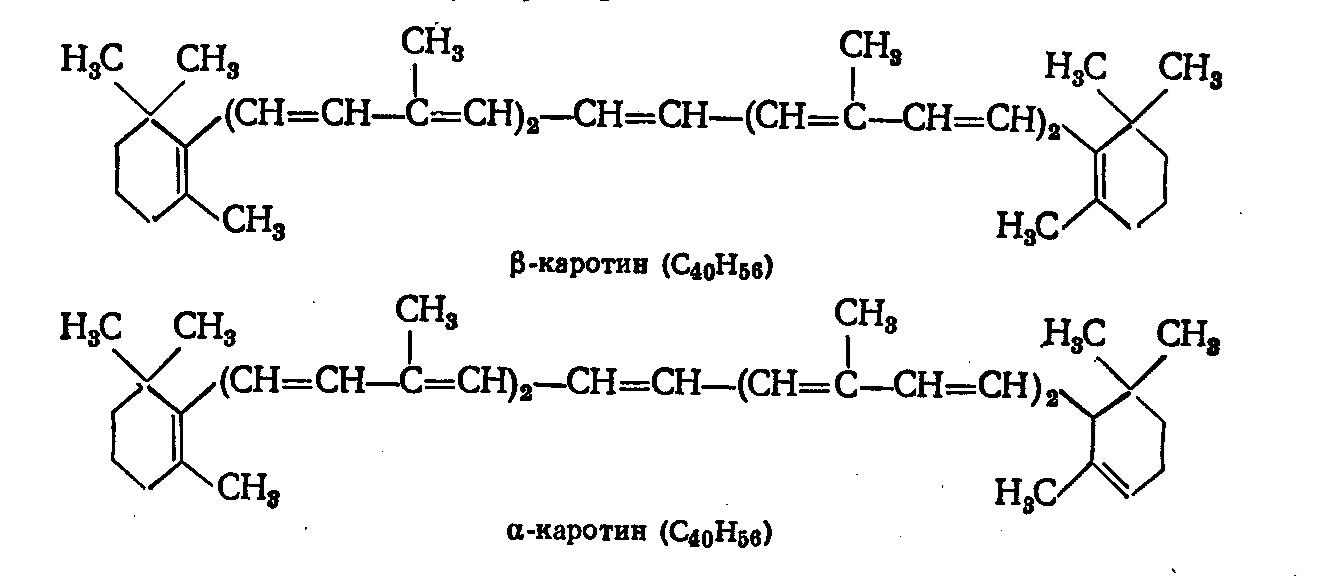 Бета-каротин формула
